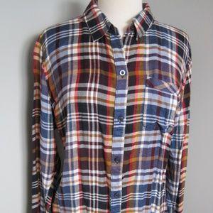 Lucky Brand Plaid Long sleeve Button Down Shirt